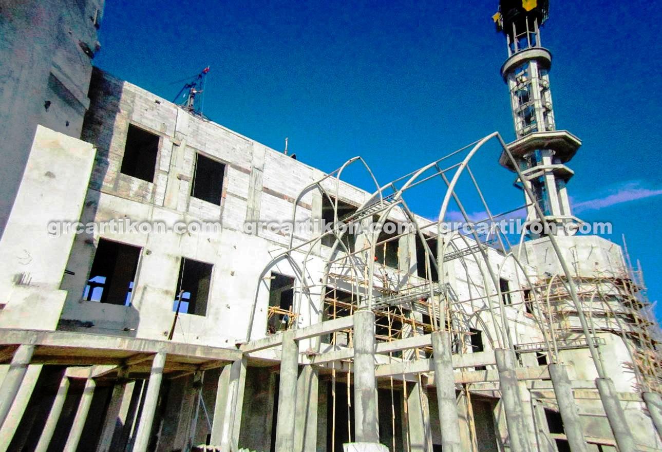 atap GRC entrance Masjid Islamic Center Mataram-1