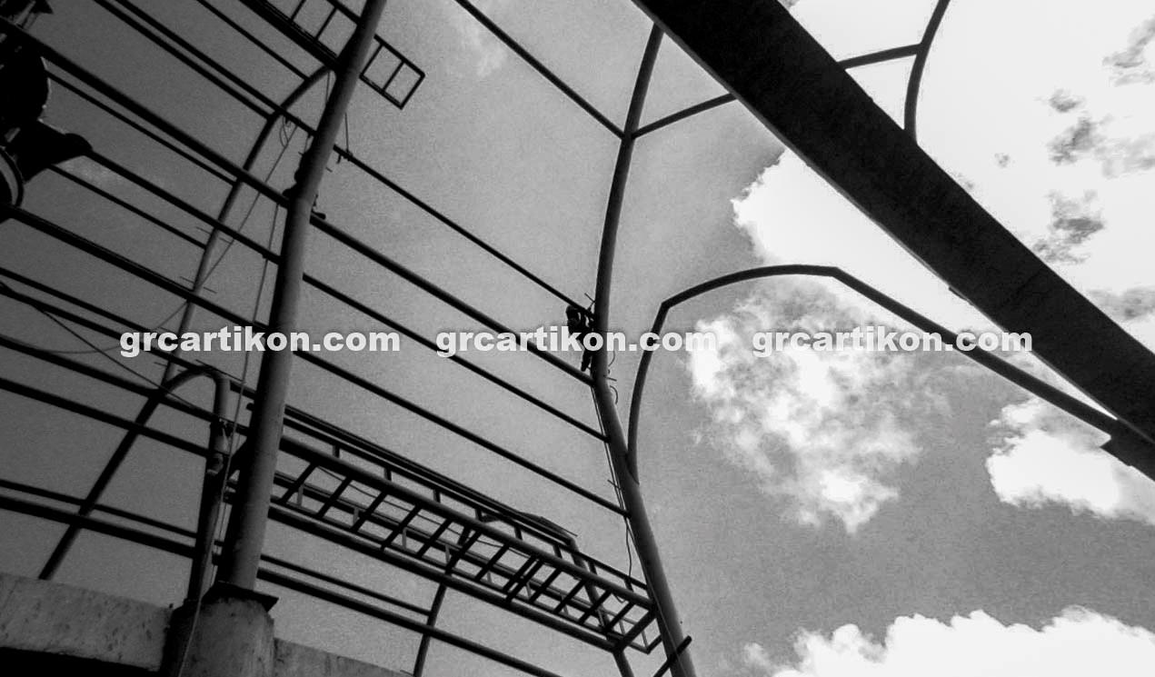 atap GRC entrance Masjid Islamic Center Mataram-11