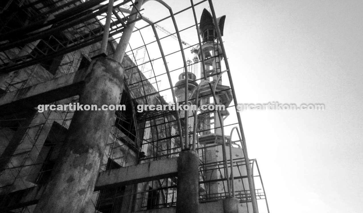 atap GRC entrance Masjid Islamic Center Mataram-24