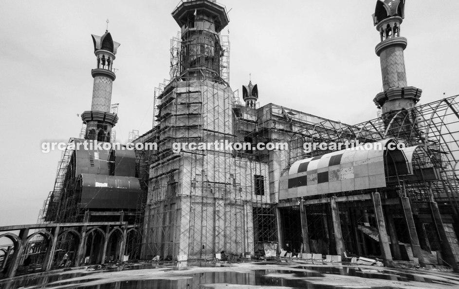 atap GRC entrance Masjid Islamic Center Mataram-49