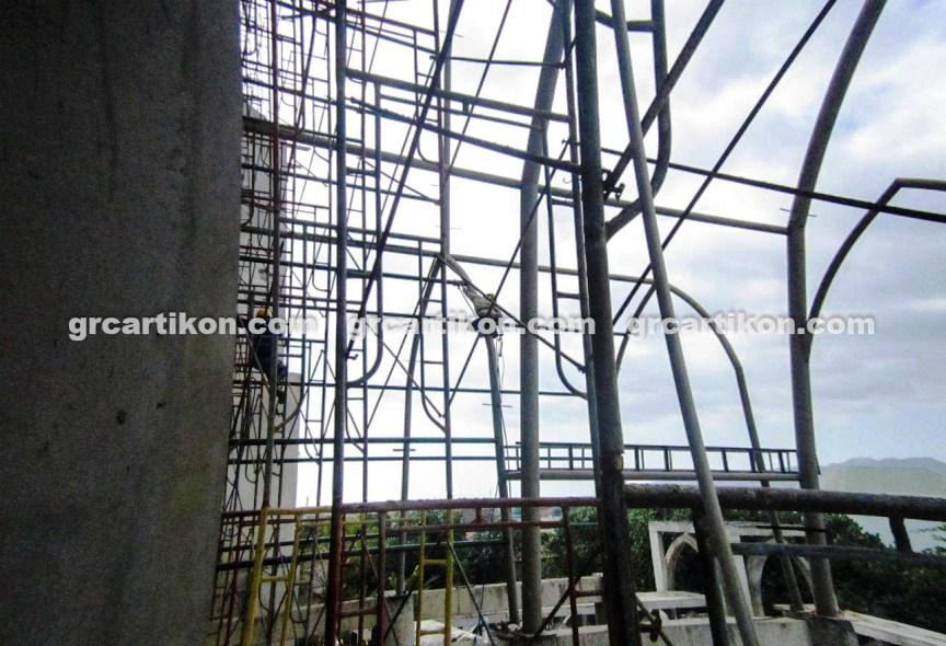 atap GRC entrance Masjid Islamic Center Mataram-5