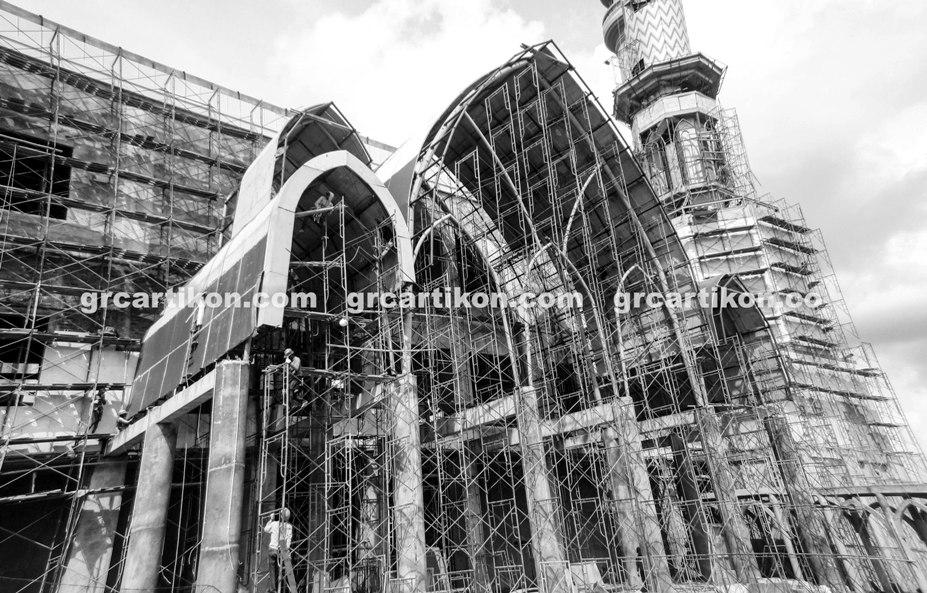 atap GRC entrance Masjid Islamic Center Mataram-59