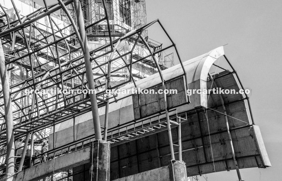 atap GRC entrance Masjid Islamic Center Mataram-63