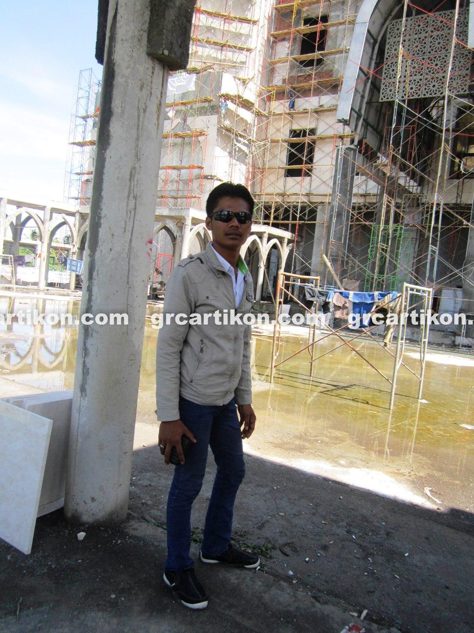 atap GRC entrance Masjid Islamic Center Mataram-65