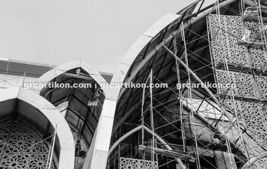 atap GRC entrance Masjid Islamic Center Mataram-72