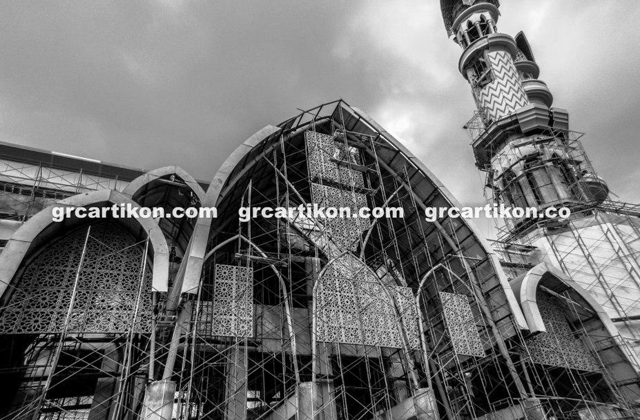 atap GRC entrance Masjid Islamic Center Mataram-73