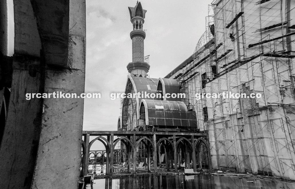 atap GRC entrance Masjid Islamic Center Mataram-75