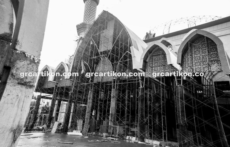 atap GRC entrance Masjid Islamic Center Mataram-78