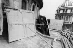 proses pemasangan GRC kubah masjid 6435