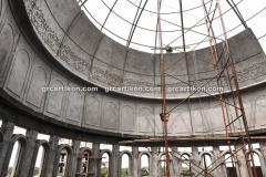 proses pemasangan GRC kubah masjid 6439