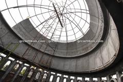proses pemasangan GRC kubah masjid 6444