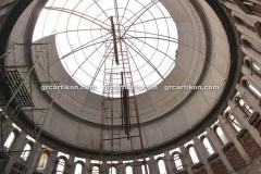 proses pemasangan GRC kubah masjid 6449