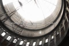 proses pemasangan GRC kubah masjid 6459