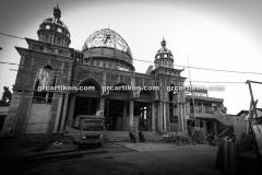 proses pemasangan GRC kubah masjid 6474