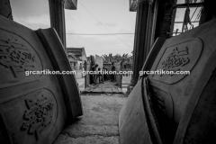 proses pemasangan GRC kubah masjid 6477