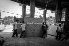 proses pemasangan GRC kubah masjid 6483