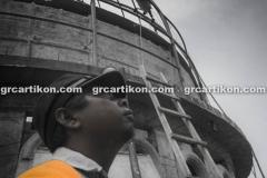 proses pemasangan GRC kubah masjid 7521