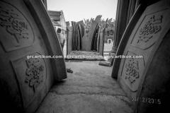 proses pemasangan GRC kubah masjid 7525