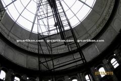 proses pemasangan GRC kubah masjid 7526