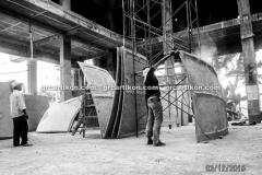 proses pemasangan GRC kubah masjid 7527