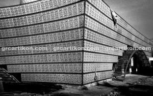 GRC Masjid Fakfak_instalasi GRC 1