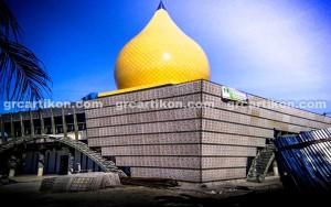 GRC Masjid Fakfak_instalasi GRC 2