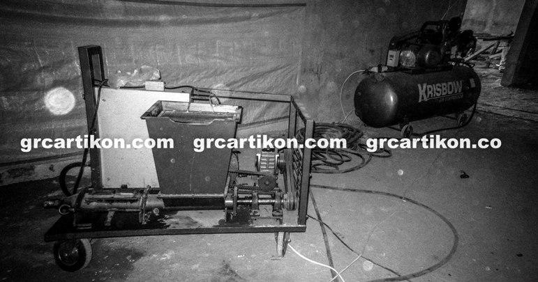 mesin pabrikasi GRC spray