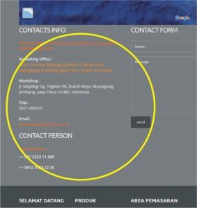 grc cetak & detail kontak artikon 2