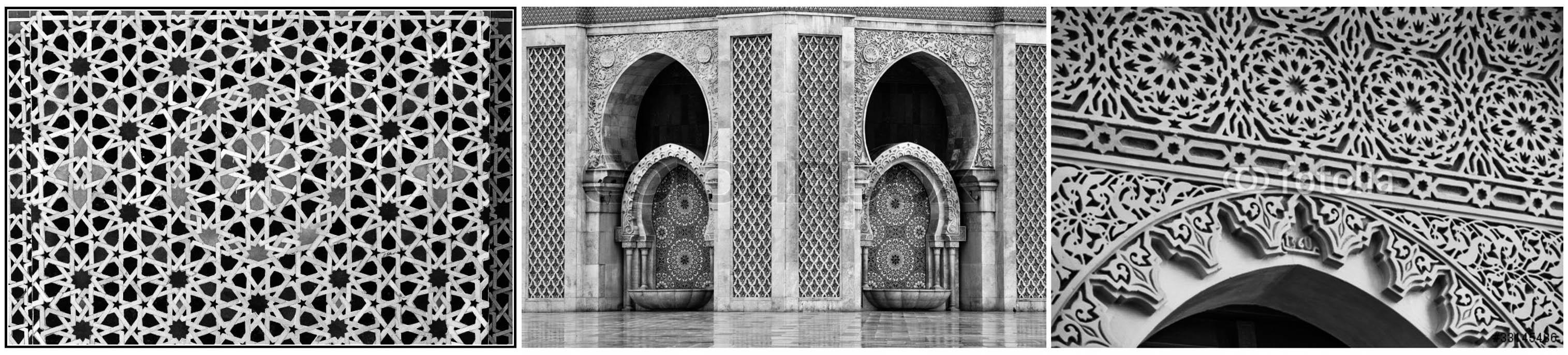 ornamen masjid ornamen geometris islami