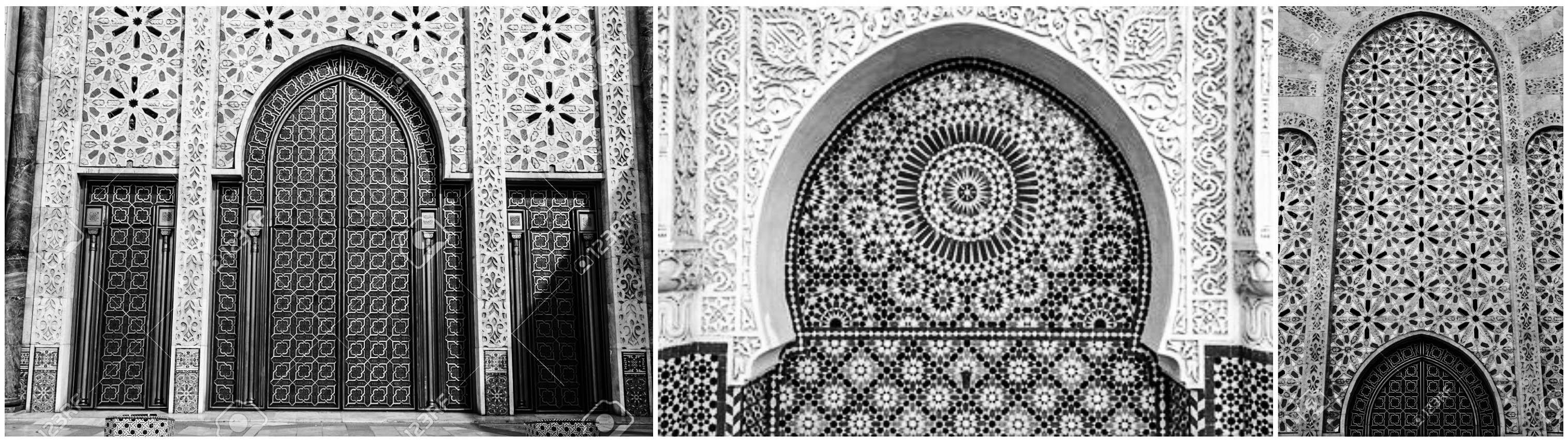 ornamen masjid geometris