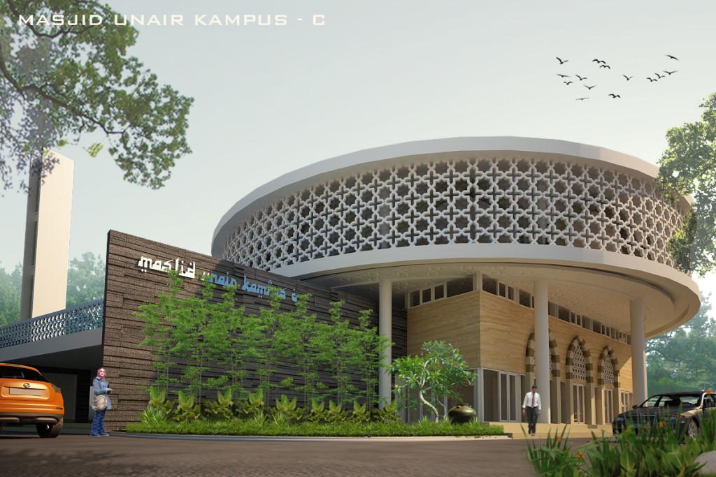 desain masjid UNAIR by krisna adi utama